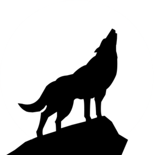 Dog howling clipart clip royalty free stock free clip art wolves | Wolf Silhouette Psd image - vector clip art ... clip royalty free stock
