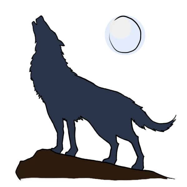 Dog howling clipart vector black and white download 28+ Collection of Wolf Howling At Moon Clipart | High quality, free ... vector black and white download