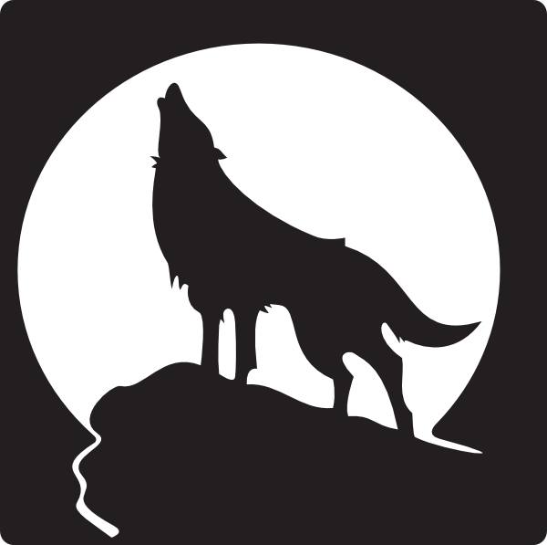 Clipart dog howling at moon clip art transparent free clip art wolves | Howling Wolf clip art - vector clip art ... clip art transparent