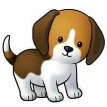 Cute dog cliparts