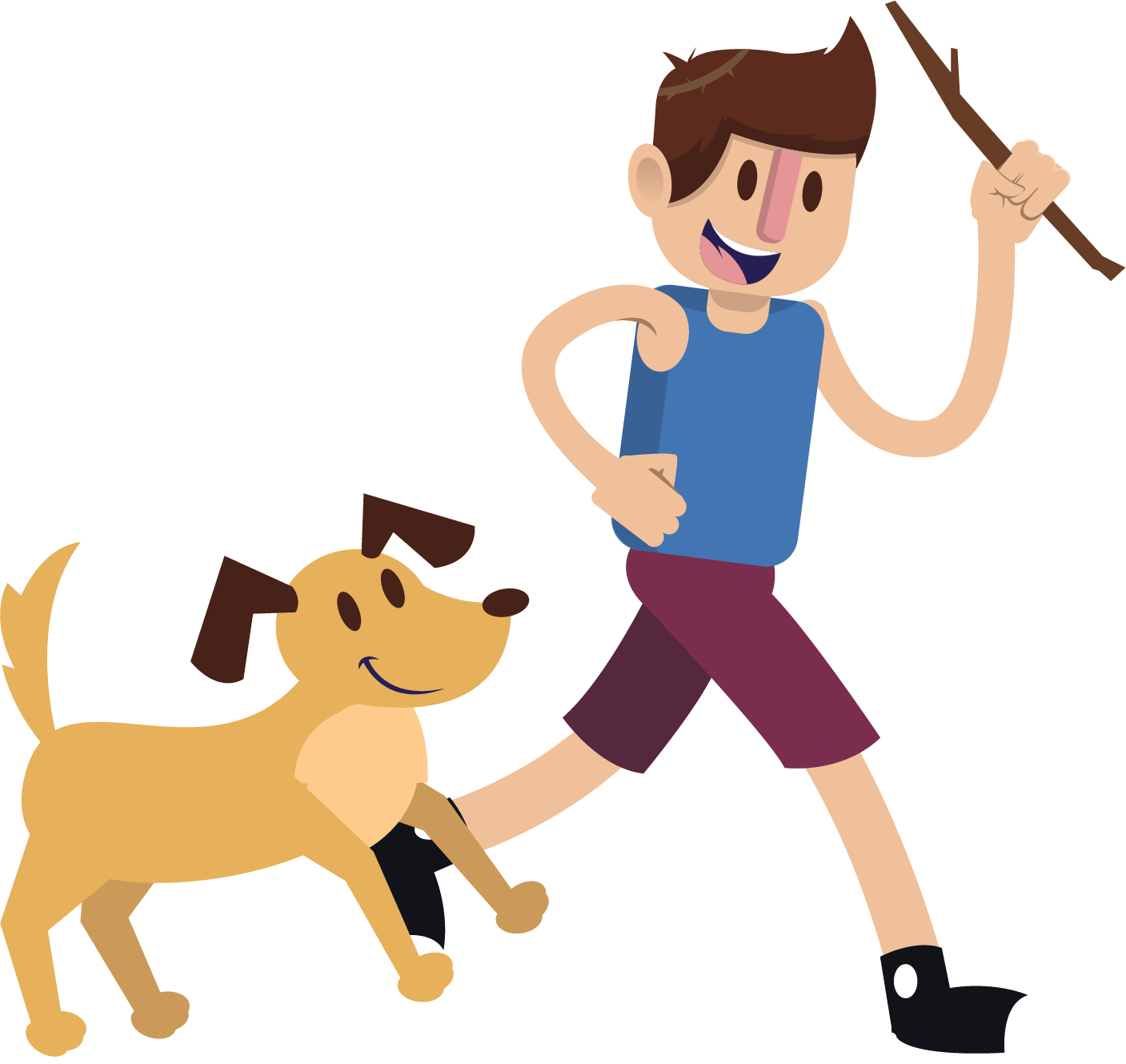 Dog walking clipart free clip library Puppy Dog Boy Pet Clip art - Play with your dog 1407*1329 transprent ... clip library