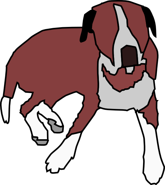 Dog sitting down clipart. Cartoon clip art at