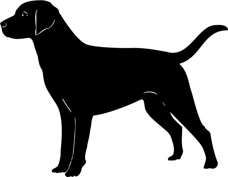 Clipart labador svg black and white stock Labrador cliparts | Silhouettes | Dog outline, Dog silhouette ... svg black and white stock