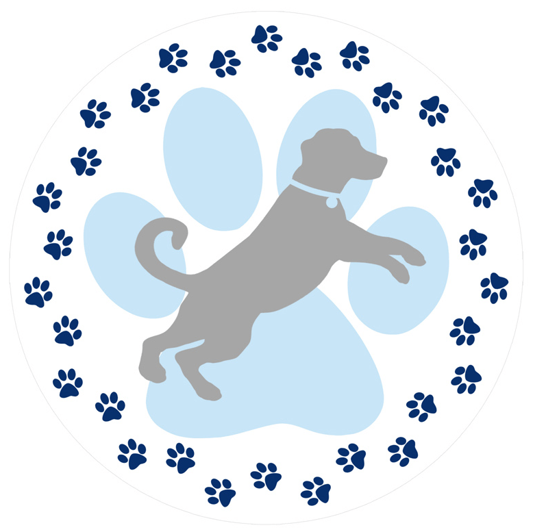 Dog pawprint clipart clipart library download Dog Paw Prints Screen Door Magnets (5.75