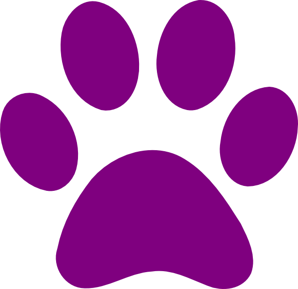 Clipart dog paw prints image royalty free download purple clip art | Purple Paw Print clip art - vector clip art online ... image royalty free download