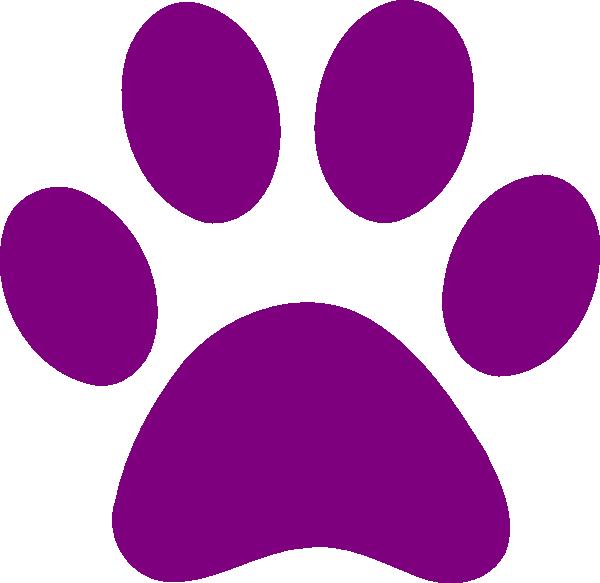 Dog pawprint clipart clip art transparent download purple clip art | Purple Paw Print clip art - vector clip art online ... clip art transparent download