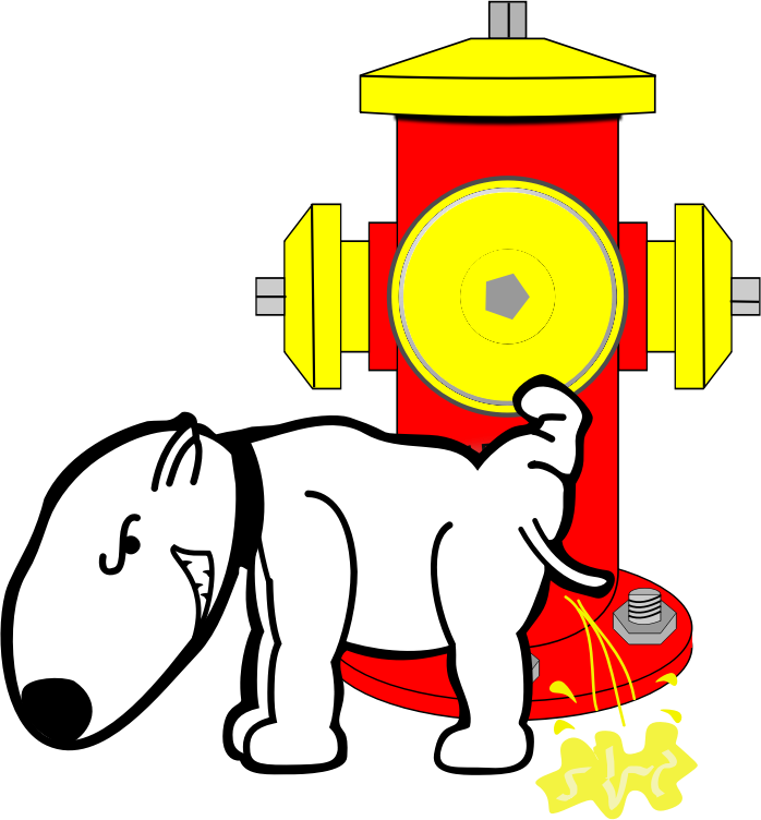 Dog peeing on fire hydrant clipart free Clipart - Hydrant & Dog free