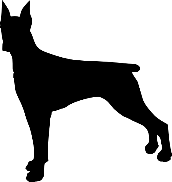 Clipart dog silhouettes clip art free stock doberman silhouette - Google Search | dod | Pinterest | Dobermans ... clip art free stock