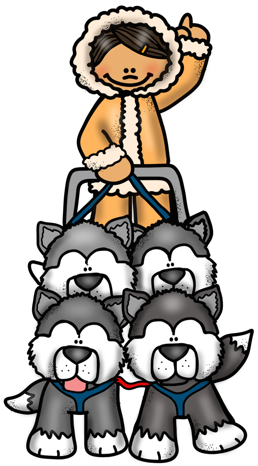 Free dog sled clipart vector royalty free stock FiveSibes™: Jr. Iditarod 2015 Kicks Off Sunday and the FiveSibes Are ... vector royalty free stock