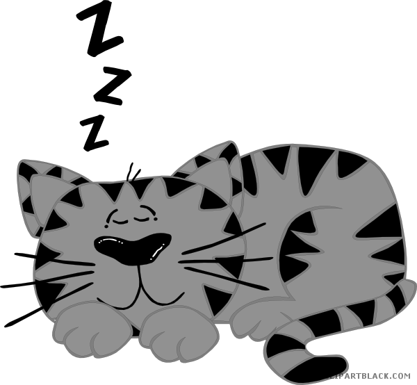 Clipart dog sleeping graphic freeuse library Cat Sleeping Clipart - ClipartBlack.com graphic freeuse library