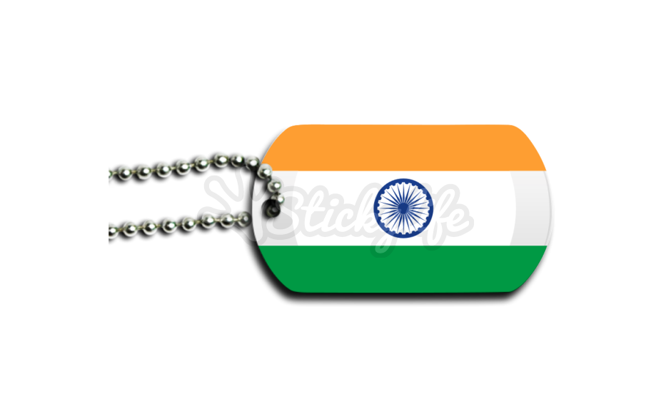 Military dog tag clipart clipart black and white stock India Dog Tag - Design and Buy clipart black and white stock