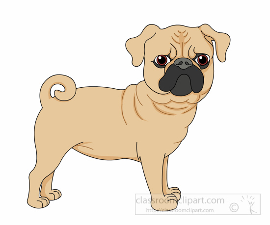 Clipart dog tail vector transparent download Dog Clipart : pug-dog-curly-tail-clipart-6125 : Classroom Clipart vector transparent download