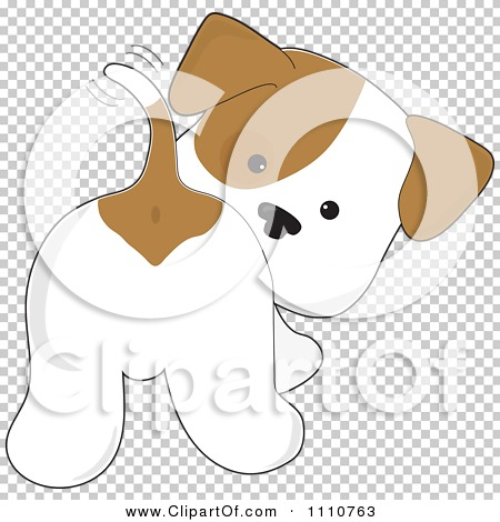 Clipart dog tail svg transparent download Clipart Cute Puppy Looking Back And Wagging His Tail - Royalty ... svg transparent download