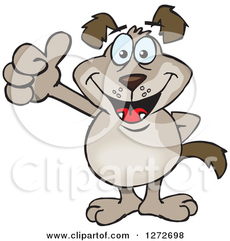 Clipartfest of a happy. Clipart dog thumbs up