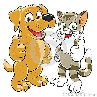 Cartoon stock photos images. Clipart dog thumbs up