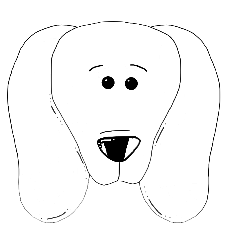Clipart dog to color banner free library Cute Dog Face Coloring Page | Dog Coloring Pages Org Find beautiful ... banner free library