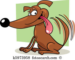Royalty free clip his. Clipart dog wagging tail