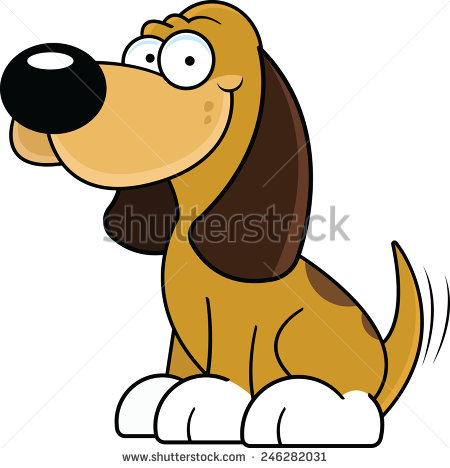 Stock images royalty free. Clipart dog wagging tail