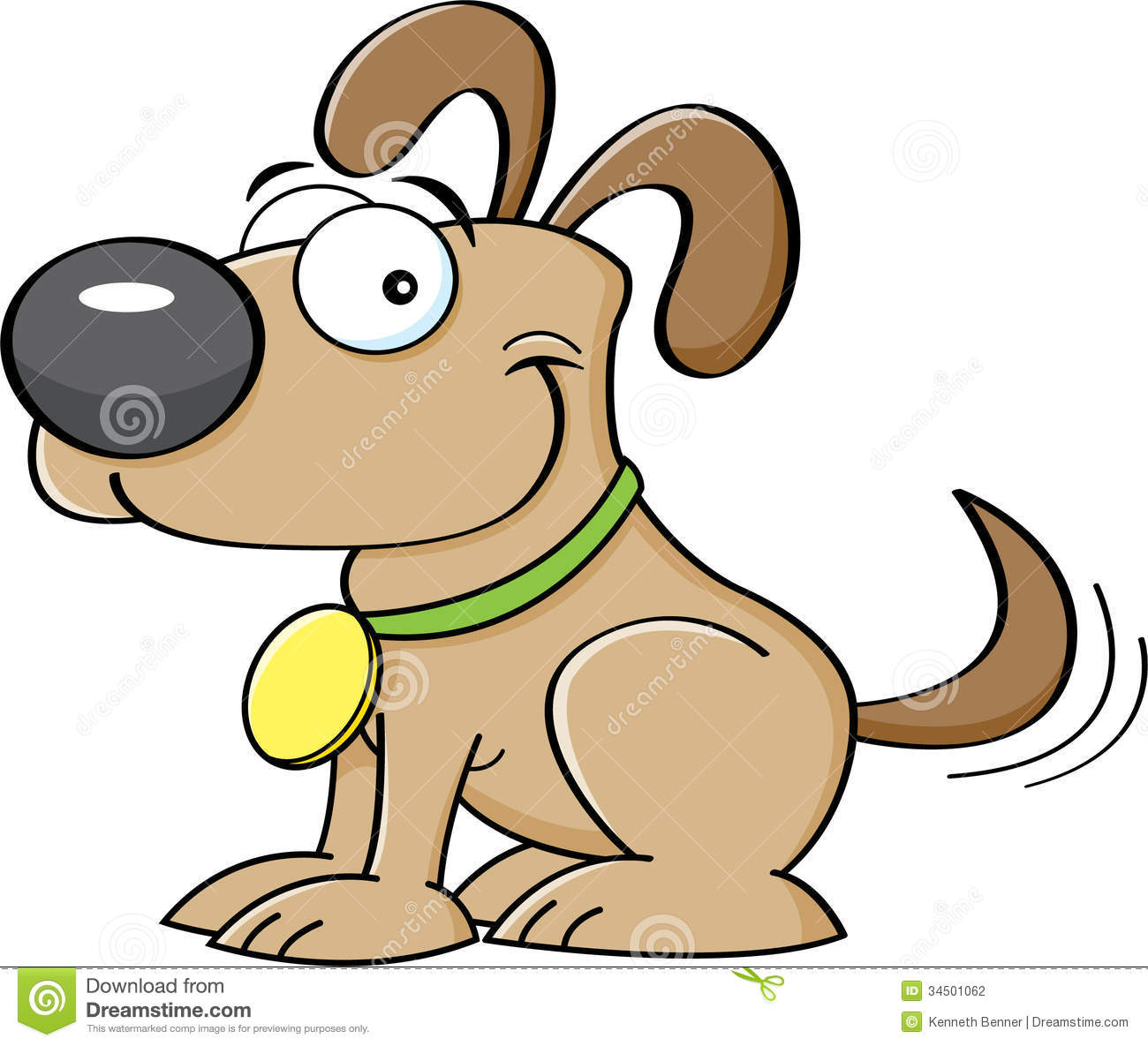 Clipart dog wagging tail. Tails clipartfest cartoon puppy