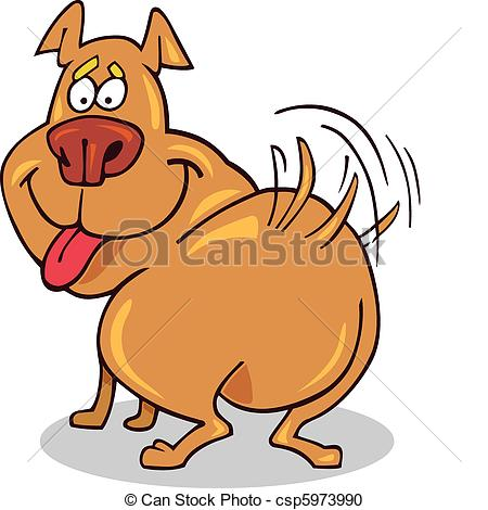 Clipart dog wagging tail. Wag illustrations and clip