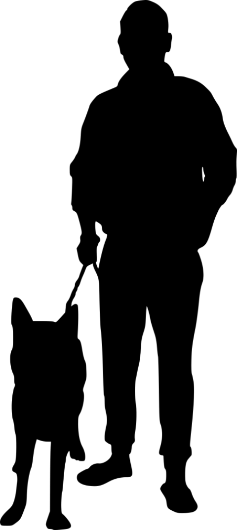 Dog walking clipart black and white graphic freeuse download dog walking silhouette png - Free PNG Images | TOPpng graphic freeuse download