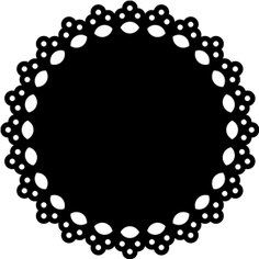 Clipart doilies black and white stock Free Doily Cliparts, Download Free Clip Art, Free Clip Art on ... black and white stock