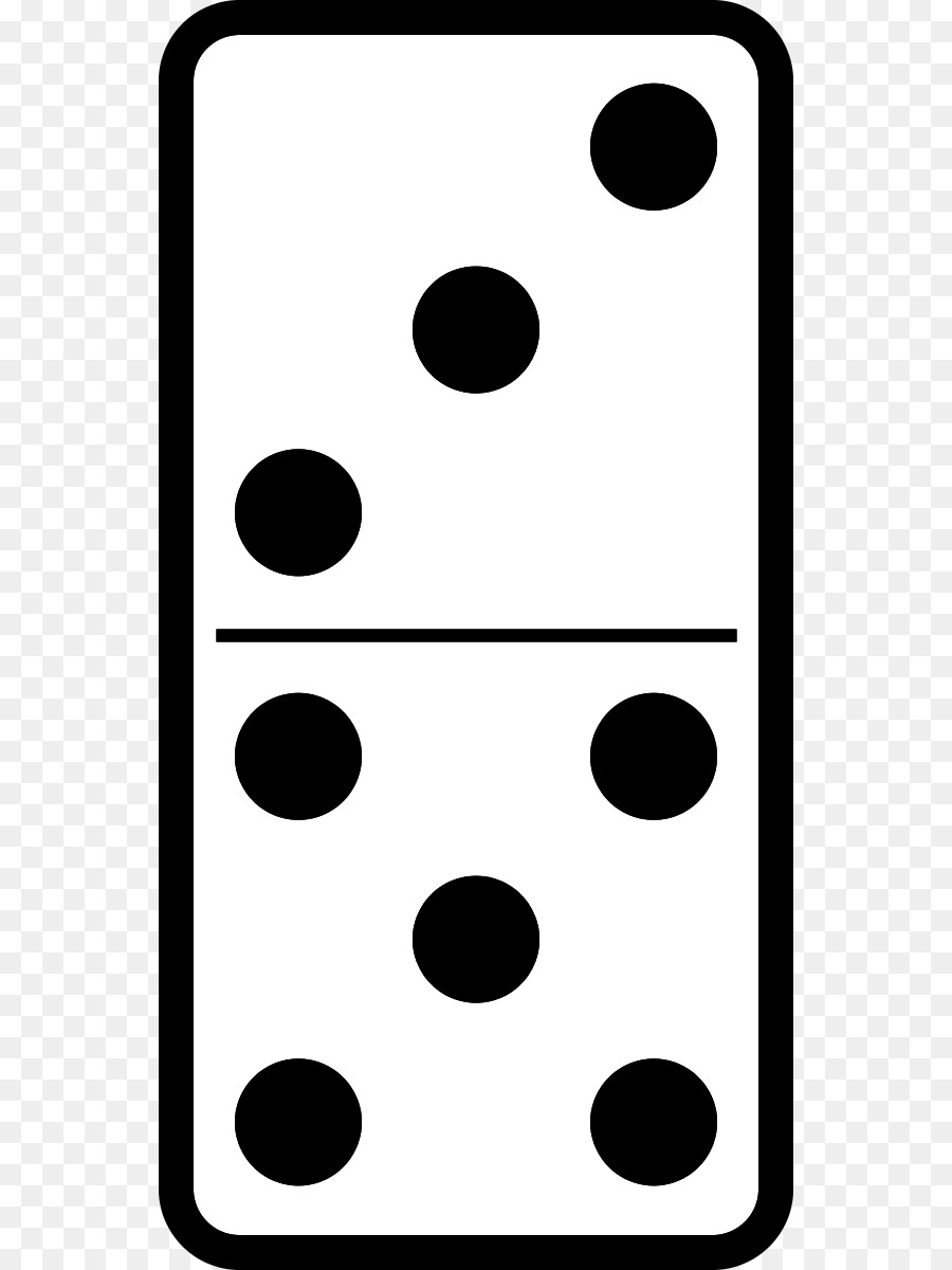 Domino clipart black and white svg library download Dominoes Recreation png download - 600*1200 - Free Transparent ... svg library download