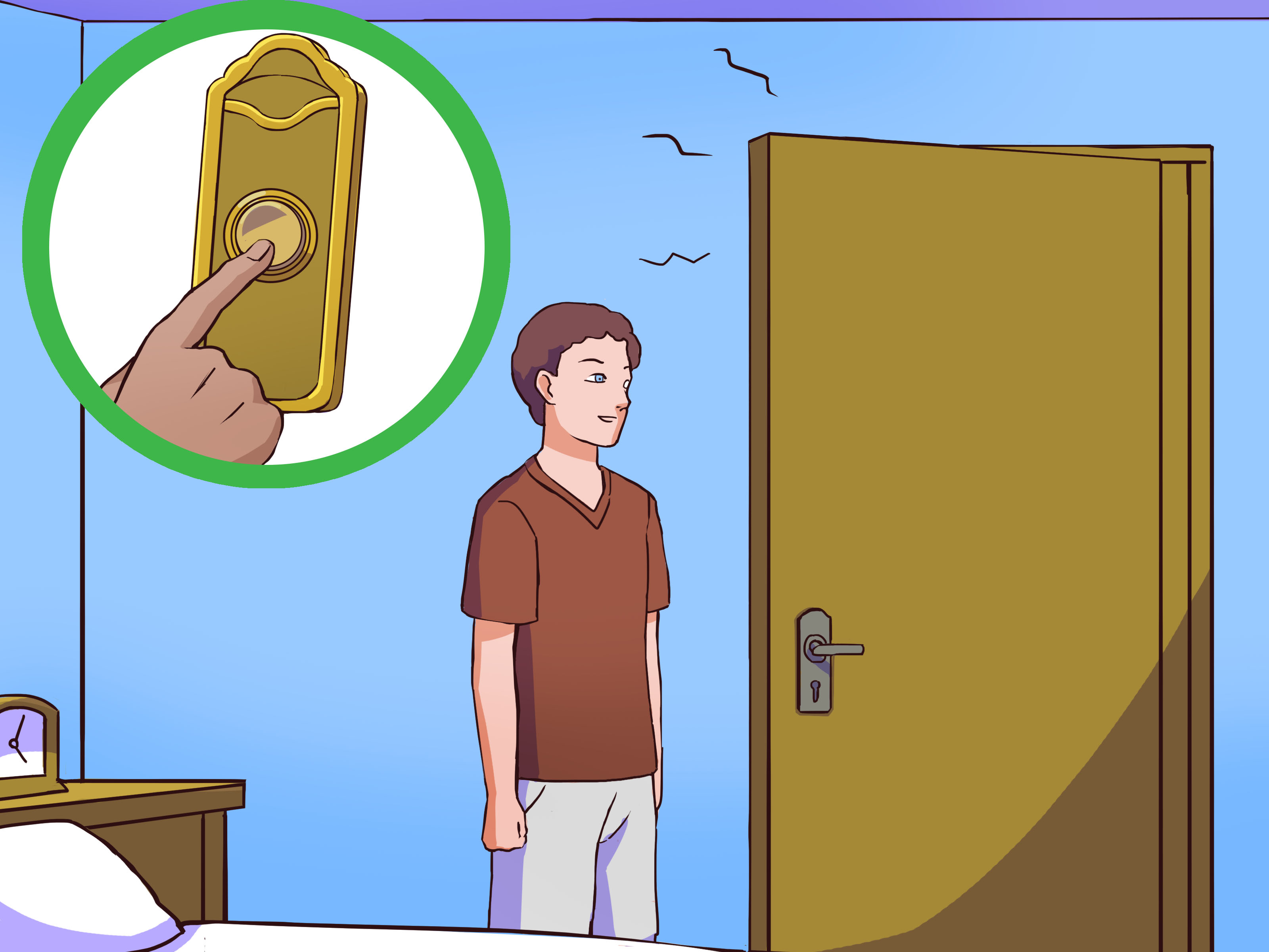 Clipart door buzzer entry clipart transparent How to Replace a Doorbell: 12 Steps (with Pictures) - wikiHow clipart transparent