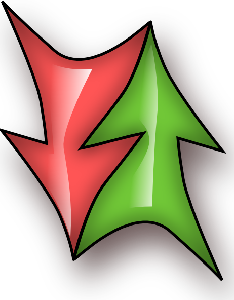 Clipart double arrow clip transparent stock Up And Down Double Arrow clip art Free Vector / 4Vector clip transparent stock