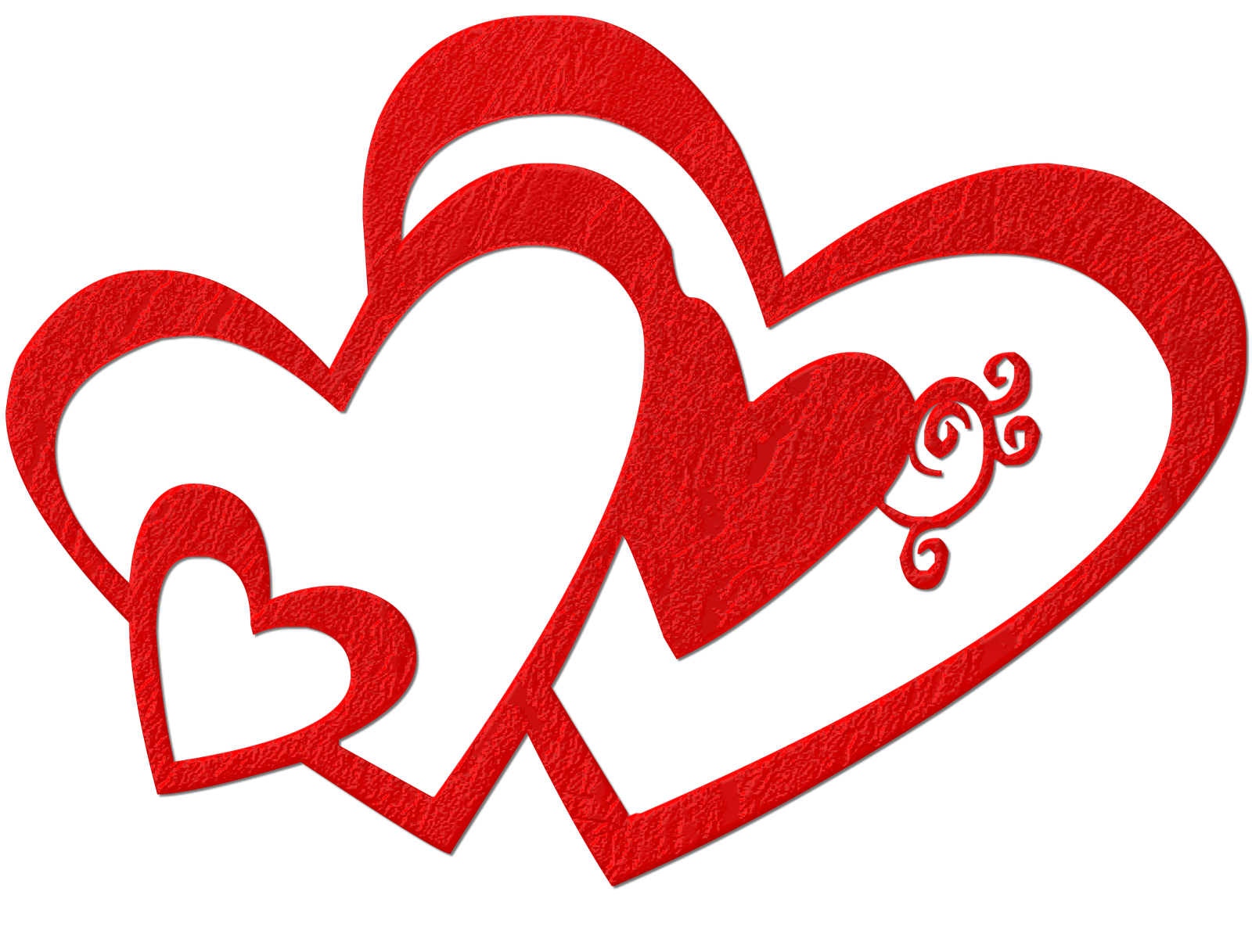 Double heart clipart