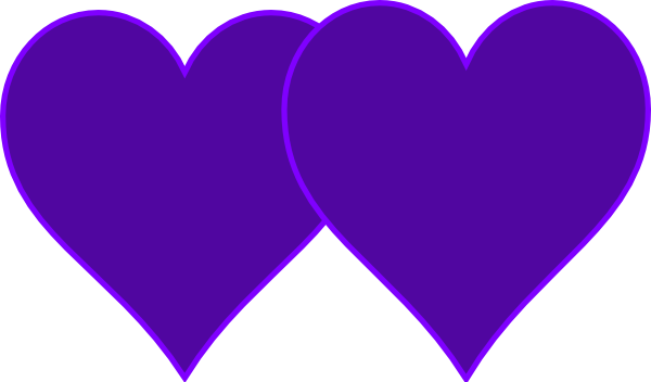 Clipart double hearts vector transparent library Double Lined Purple Hearts Clip Art at Clker.com - vector clip art ... vector transparent library