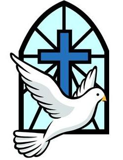 Dove and a cross clipart