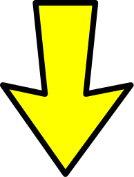 Clipart down arrow with movement png free stock arrow outline yellow down - /signs_symbol/arrows/arrows_color ... png free stock