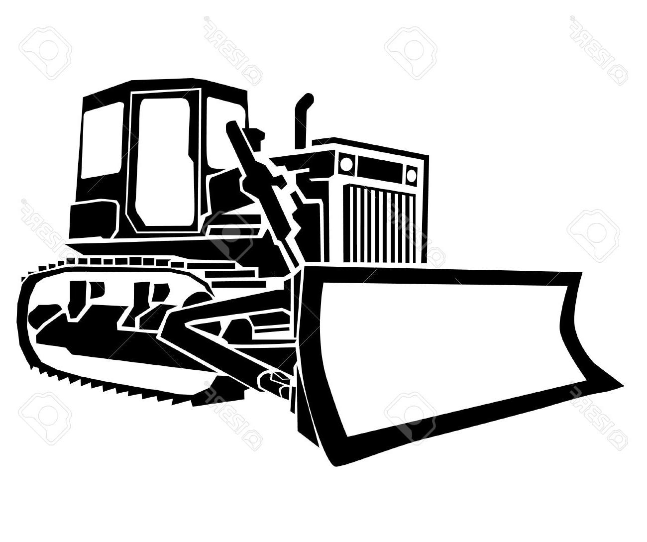 Library of jpg black and white stock dozer png files ...