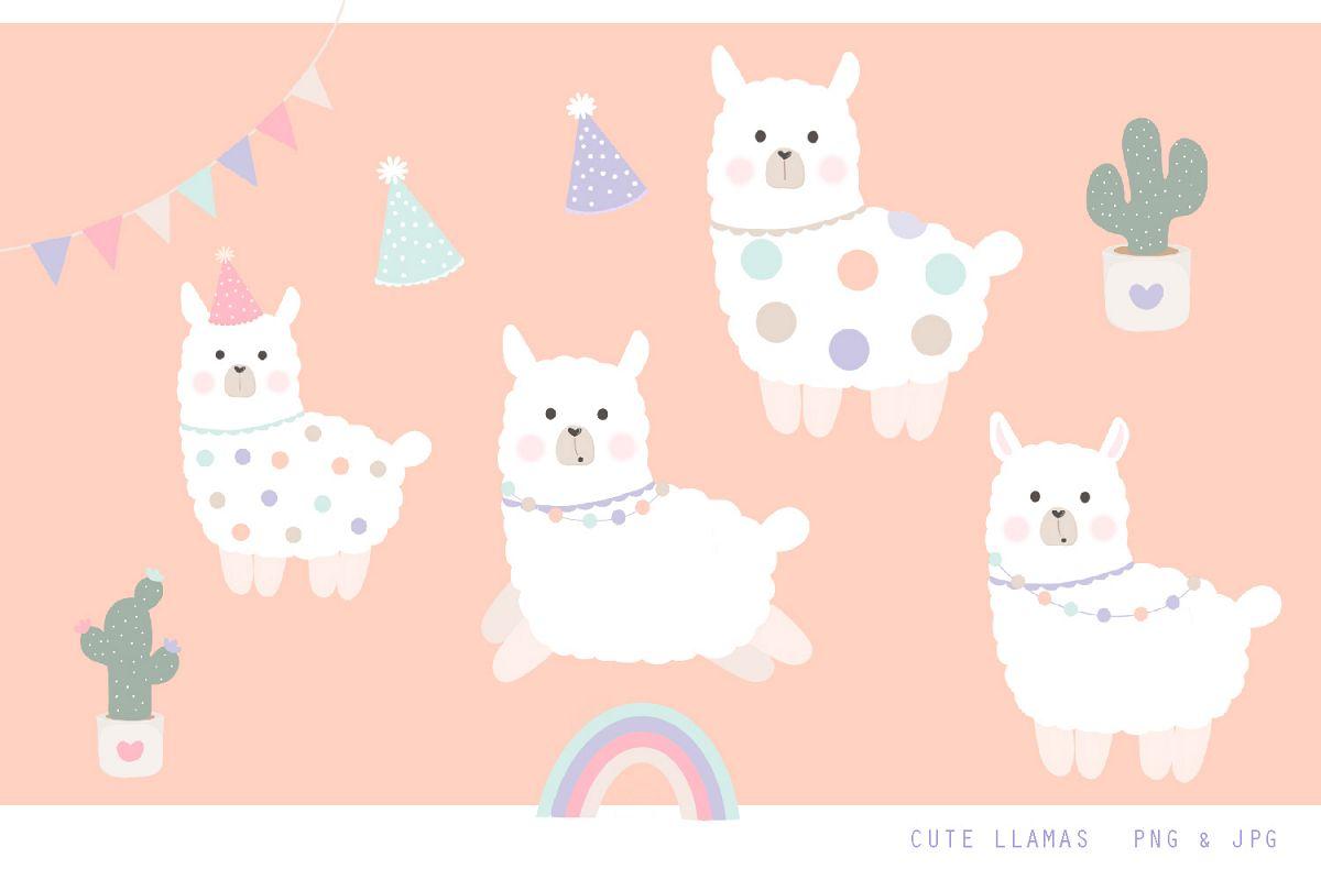 Llama clipart png svg free Cute Llama Clipart - Jpg, png, 300 dpi illustrations svg free