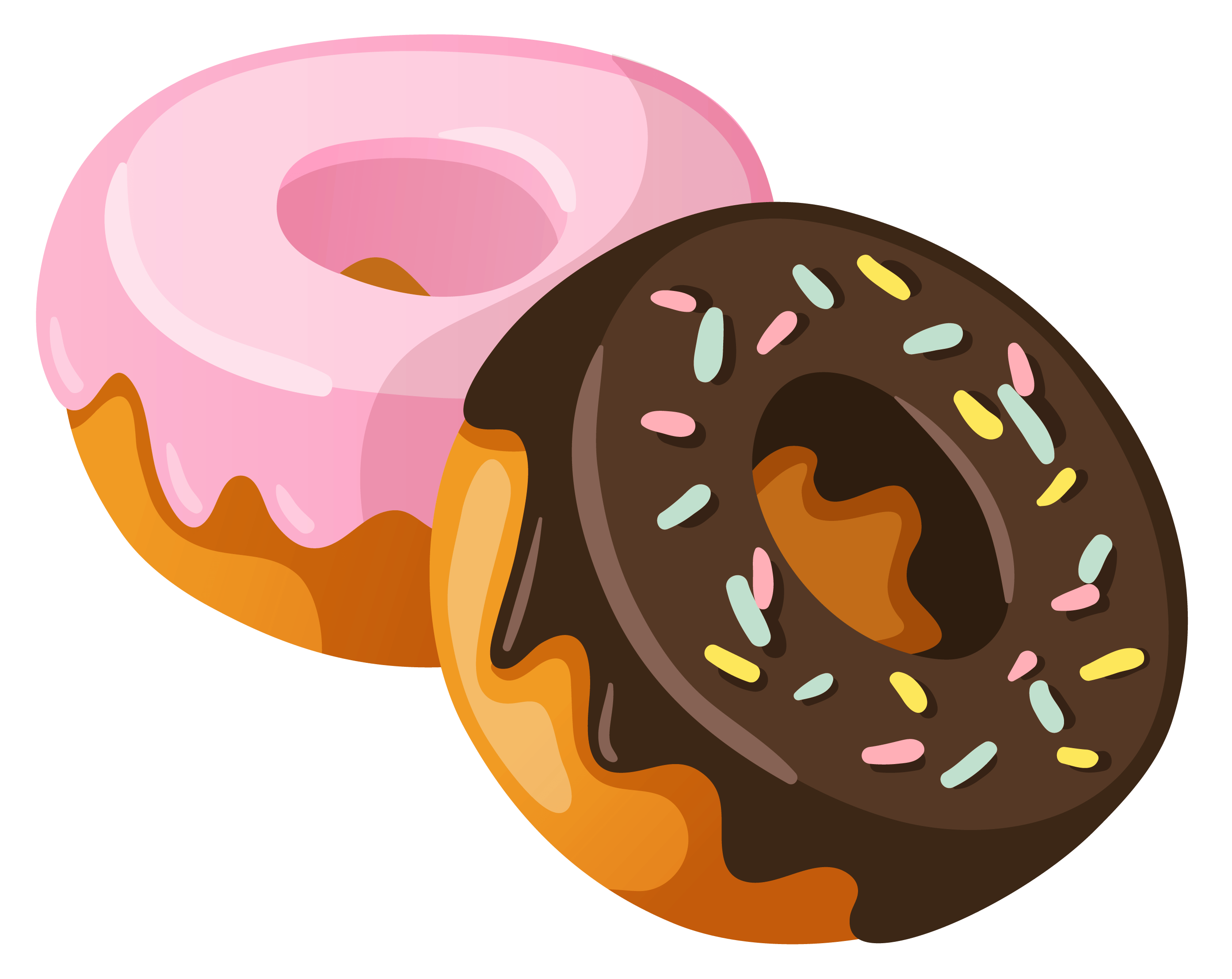 Donut clipart free vector freeuse download Donuts Clipart transparent PNG - StickPNG vector freeuse download