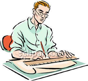 Clipart drafting graphic free stock Man Drafting | Clipart Panda - Free Clipart Images graphic free stock