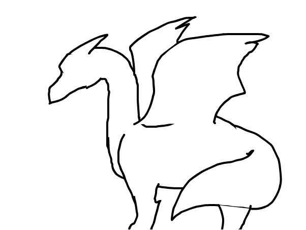 Clipart dragon outline image transparent stock Dragon outline - Slimber.com: Drawing and Painting Online - ClipArt ... image transparent stock
