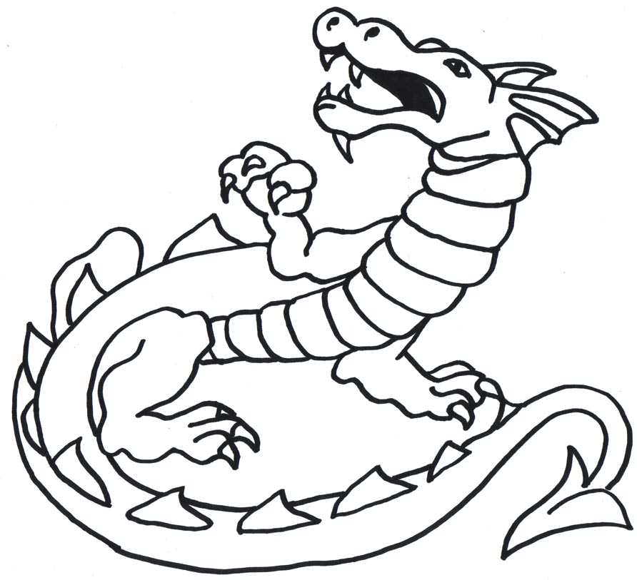 Clipart dragon outline clip freeuse download Free Simple Dragon Outline, Download Free Clip Art, Free Clip Art on ... clip freeuse download