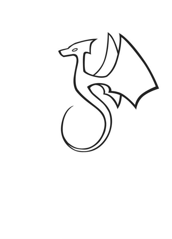 Clipart dragon outline royalty free stock Simple Dragon Outline | Free download best Simple Dragon Outline on ... royalty free stock