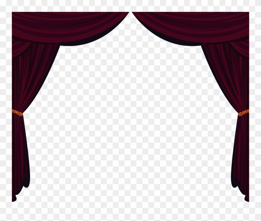 Cutains clipart clipart royalty free Drapes And Stage Curtains Clipart (#2496332) - PinClipart clipart royalty free
