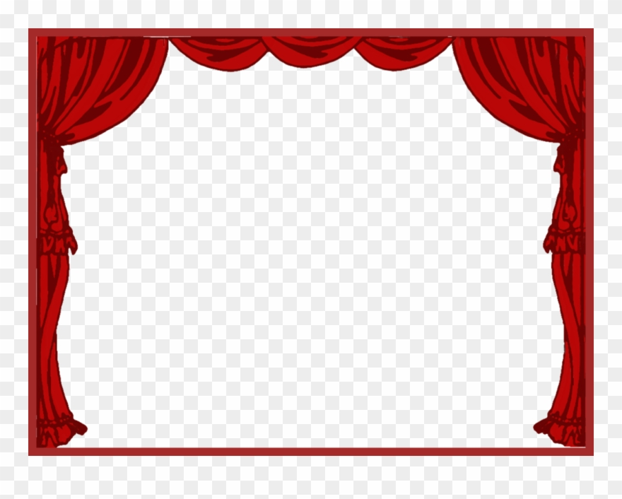 Cutains clipart clip freeuse stock Curtain Clipart Left - Theater Drapes And Stage Curtains - Png ... clip freeuse stock