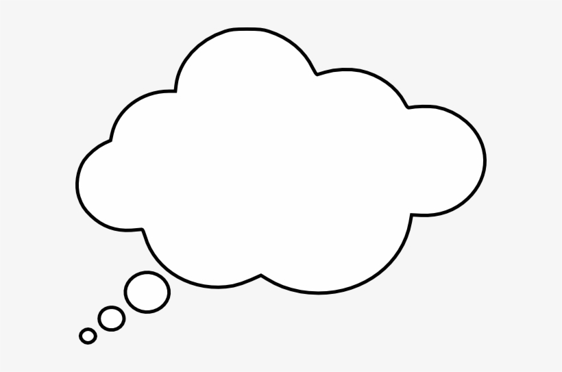 Library of clip art black and white library dream cloud png files ...
