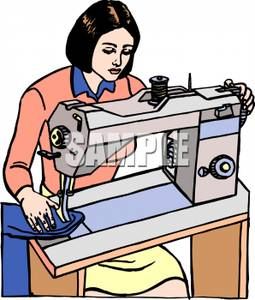 Woman using sewing machine clipart graphic transparent library Dressmaker clipart 12 » Clipart Station graphic transparent library