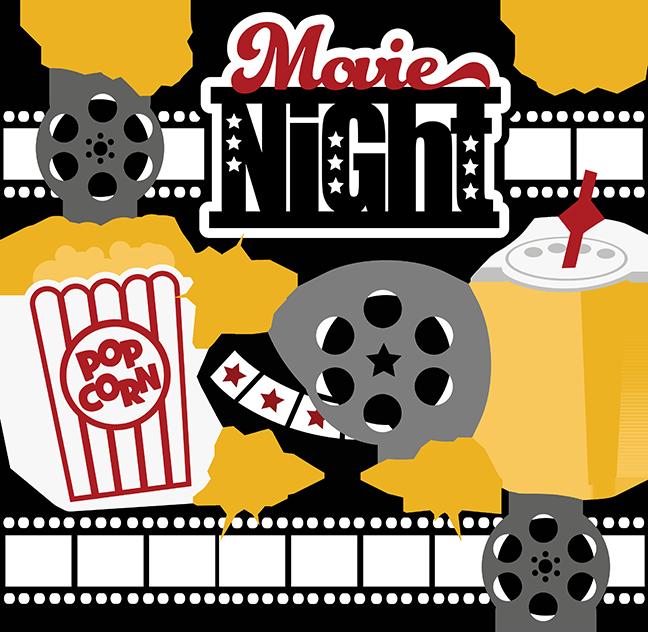 Movies night cliparts