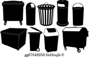 Dumpster pictures clipart clip black and white download Dumpster Clip Art - Royalty Free - GoGraph clip black and white download