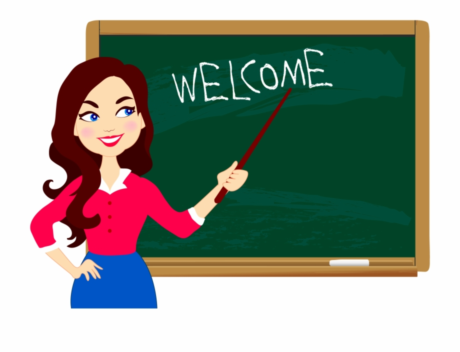 Teacher clipart clip library library Student Education Welcome - Blackboard With Teacher Clipart Free PNG ... clip library library