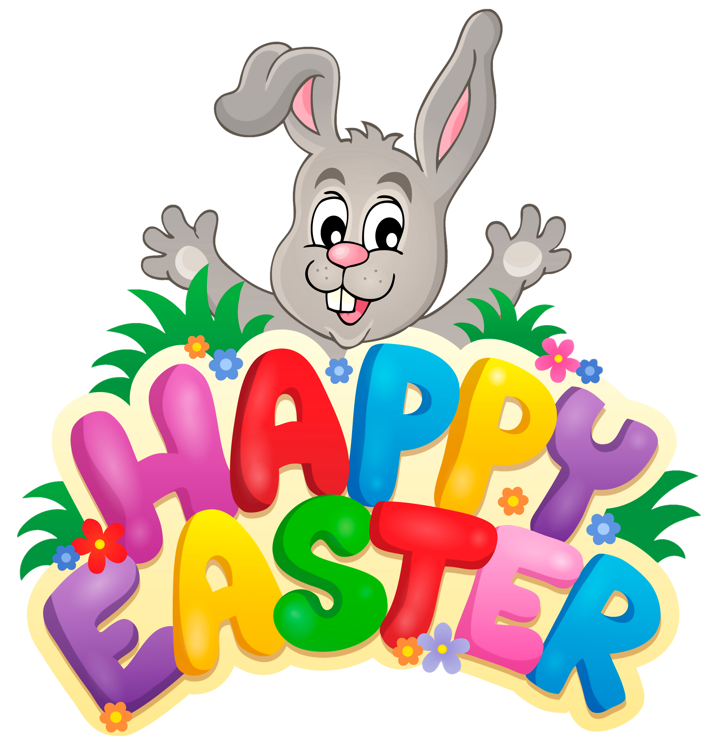 Transparent easter clipart vector library library Transparent Happy Easter with Bunny PNG Clipart Picture | Gallery ... vector library library