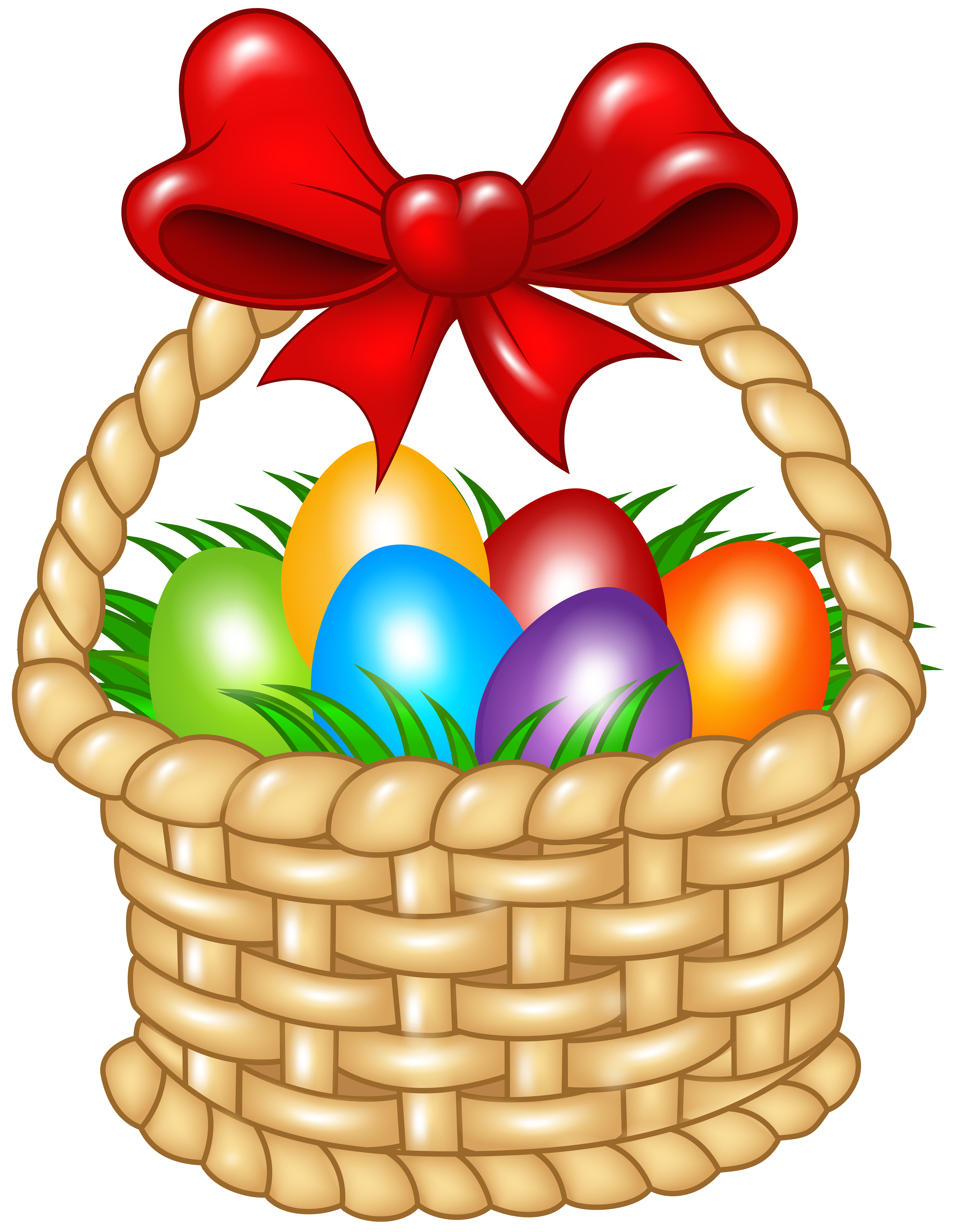 Clipart easter jpg freeuse stock Easter Basket Transparent PNG Clip Art Image | Gallery Yopriceville ... jpg freeuse stock