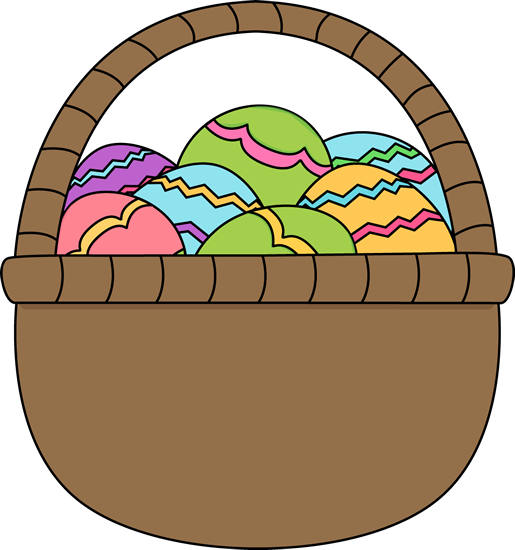 Clipart easter basket free library Clipart easter egg basket - ClipartFest free library